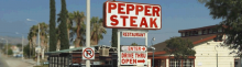 Pepper Steak Sign