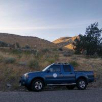 2017 solar eclipse Gerald's truck with SBVAA logo