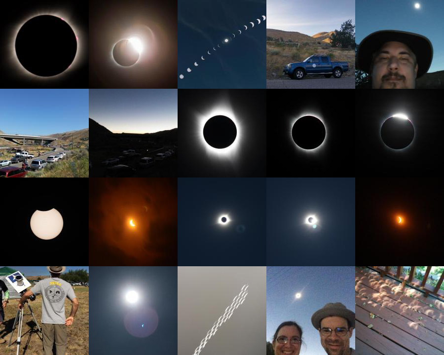 Collage of Eclipse Images