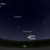 Image of Jupiter and Saturn's location in the sky on December 21, 2020 for the Great Conjunction