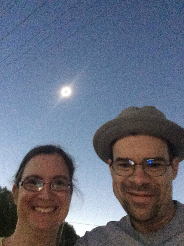 2017 solar eclipse totality selfie - Nick Broman