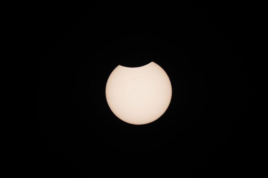 2017 total solar eclipse end - David Morris