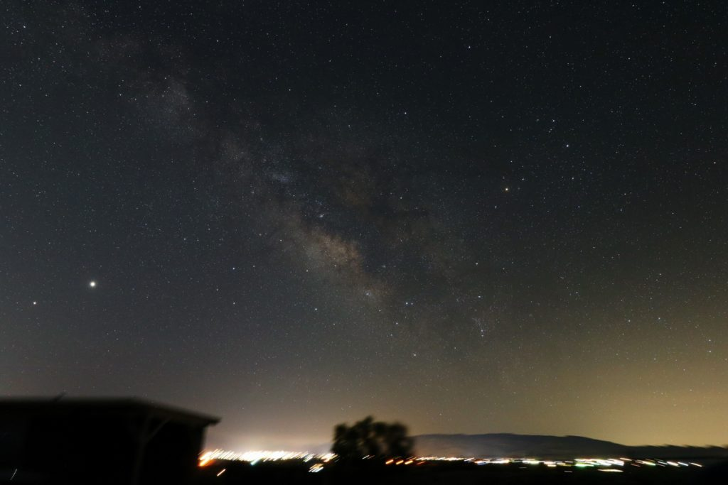 Milky Way photographed above 29 Palms