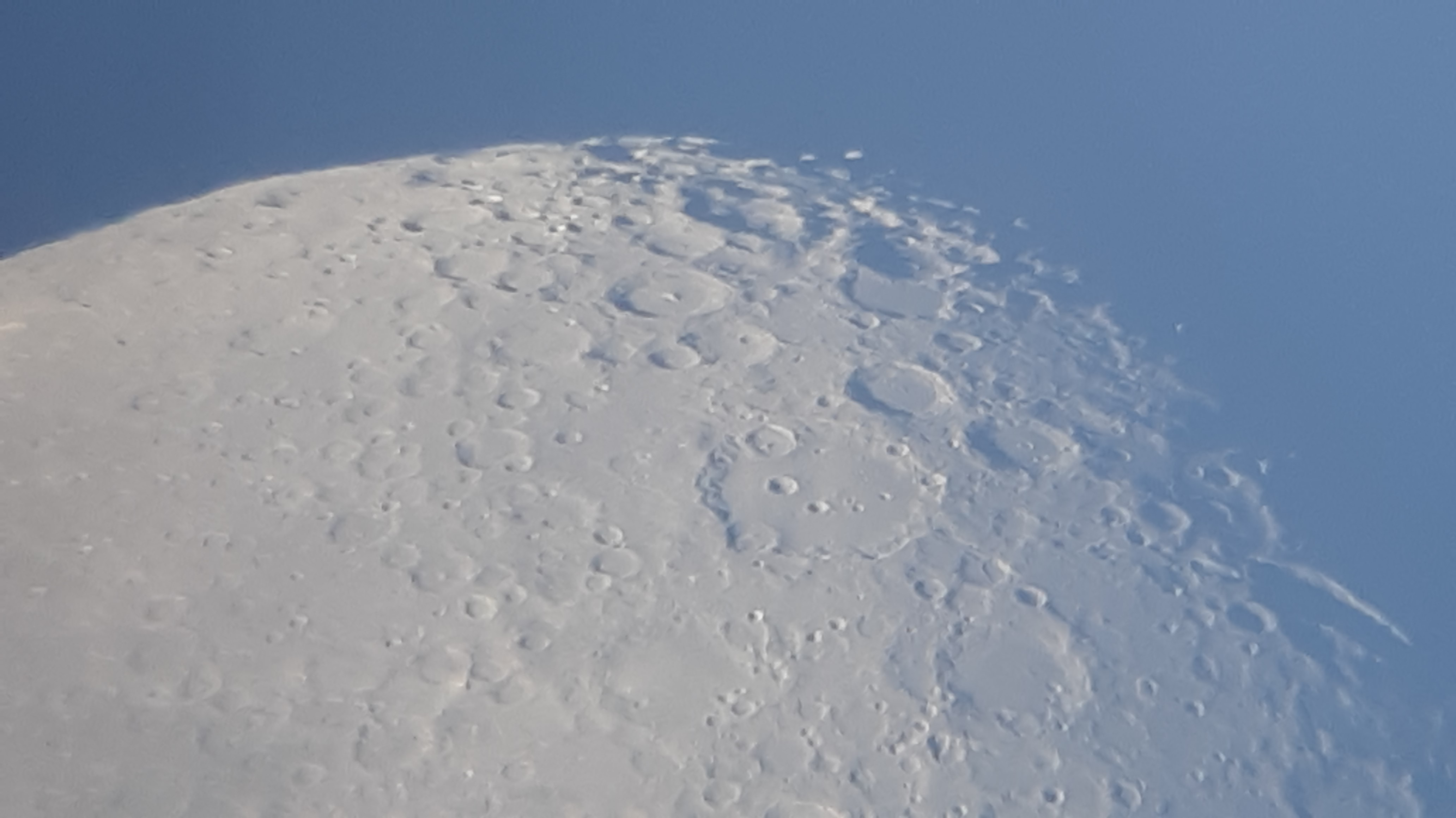 Moon photo taken through a telescope.